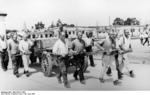 Prisoners at work, Dachau Concentration Camp, Germany, 28 Jun 1938