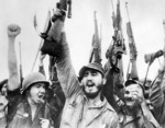Fidel Castro and others with Johnson M1941 rifles, 1959