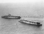 HMS Furious with HMS Courageous or HMS Glorious, off Gibraltar, early 1930s