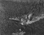 HMS Exeter under attack by B5N aircraft during the Gasper Strait sortie, 15 Feb 1942