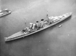 HMS Exeter at Balboa harbor, Panama Canal Zone, 24 Apr 1934