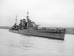 HMS Exeter after refit, Mar 1941
