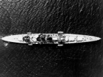 Aerial view of HMS Exeter, Panama Canal Zone, circa 1939