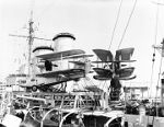 Walrus flying boats aboard HMS Exeter, 1930s