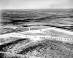 Aerial view of a glider training airstrip in Texas, 1943. Visible are C-47 Skytrain tow planes with Waco CG-4A gliders. Photo 4 of 5