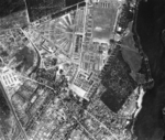 Aerial view of Sachsenhausen Concentration Camp, Germany, 20 May 1943; photo taken by a British No. 542 Squadron RAF aircraft