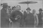 Wang Jingwei arriving at Ming Palace Airport, Nanjing, China, 18 Jan 1937, photo 2 of 2