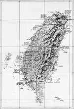 United States Army Air Force map of Taiwan.