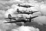 Wellesley bombers in flight, date unknown