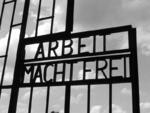 Arbeit Macht Frei gate at Sachsenhausen Concentration Camp, Germany, Sep 2004