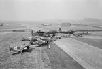 Various aircraft at RAF Mandy, England, United Kingdom, 1940s