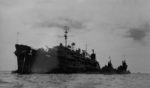 USS Proteus, I-400, I-401, and I-14, Yokosuka, Japan, 29 Aug 1945