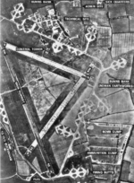 Aerial view of RAF Old Buckenham, Norfolk, England, United Kingdom, 30 Mar 1946