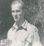 Ed Dyess celebrating after raid on Subic Bay, Philippines, Mar 1942