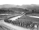 Chinese soldiers marching toward the Salween front during the Burma Campaign, 1943.