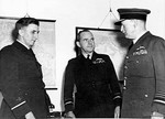 Air Vice Marshal George Jones, Air Vice-Marshal W. D. Bostock, and Air Chief Marshal Charles Burnett, Australia, 12 May 1942