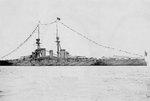 Battleship Kongo in Kirun harbor, Taiwan with Crown Prince Hirohito on board, 27 Apr 1923