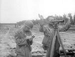American surveying Lunga Point Airfield, Guadalcanal, Solomon Islands, Aug 1942