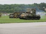 Re-enactors with a M4 Sherman medium tank, Reading Regional Airport, Pennsylvania, United States, 3 Jun 2018