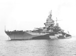 USS New Mexico with Camo Mea 32 Design 3D, Puget Sound Navy Yard, Bremerton, Washington, United States, 21 Oct 1944, photo 1 of 2