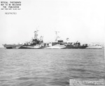 Cruiser USS Portland as seen off Mare Island Naval Shipyard, California after overhaul, 30 Jul 1944. She is painted in Measure 32, Design 7D. Photo 1 of 2