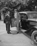 Harry Hopkins arriving at the White House, Washington, United States, 14 Jul 1937