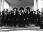Dignitaries gathering for the funeral of Konrad Adenauer, Germany, 25 Apr 1967