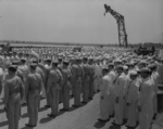 Commissioning ceremony of USS New Jersey, Philadelphia Navy Yard, Pennsylvania, United States, 23 May 1943, photo 02 of 25