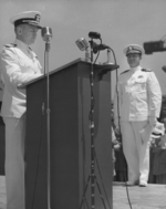 Commissioning ceremony of USS New Jersey, Philadelphia Navy Yard, Pennsylvania, United States, 23 May 1943, photo 15 of 25