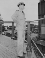 Captain Carl Holden aboard USS New Jersey, 1943-1945