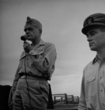 Admiral William Halsey aboard USS New Jersey, date unknown