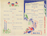 Program of the Christmas holiday celebration aboard USS New Jersey, Dec 1944, page 2 of 3