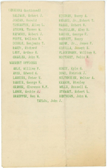 Christmas holiday greeting card from the officers of USS New Jersey, Dec 1944, page 3 of 3
