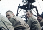 Soldiers of US 83rd Division aboard a vessel off Omaha Beach, Normandie, France, 18 Jun 1944