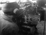 Type 96 Mark 4 Bo radio set inside of a Type 97 Cha-Ha tank, date unknown