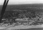 Aerial view of Camp Landis from a L-5 liaison aircraft flown by Lieutenant Sittner of US 5332nd Brigade (Provisional), Kachin, Burma, Dec 1944