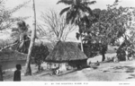 Postcard featuring a village on the Sigatoka River, Fiji, 1940s