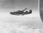 "B-24H Liberator ""Tepee Time Gal"" of the 455th Bomb Group in flight, circa 1944."