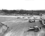 War weary aircraft at the Wheeler Field graveyard (Waieli Gulch airstrip), Oahu, Hawaii, 4 Apr 1945. Photo 1 of 2.