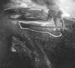 Lho Nga (Lhoknga) airfield under attack, Sumatra, Dutch East Indies, 19 Apr 1944
