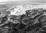 Aerial view of Yontan Airfield, Okinawa, Japan, 1945