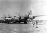 XB-32 Dominator bomber of USAAF 386th Bombardment Squadron at Yontan Airfield, Okinawa, Japan, Aug-Sep 1945