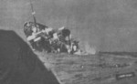 HMS Rajputaana (F 35) sinking in the North Atlantic Ocean, 13 Apr 1941