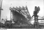 Launching ceremony of SS Bremen, Deschimag shipyard, Bremen, Germany, 16 Aug 1928