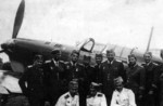 Pilots of 51st Independent Fighter Group with an IK-3 No 3 fighter, Apr 1941, photo 2 of 2