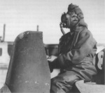 Commander of Chariot manned torpedo wearing Sladen suit and oxygen apparatus, Rothesay, Scotland, United Kingdom, 3 Mar 1944, photo 1 of 2