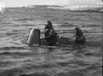 Chariot manned torpedo with crew, Rothesay, Scotland, United Kingdom, 3 Mar 1944, photo 2 of 3