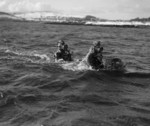 Chariot manned torpedo with crew, Rothesay, Scotland, United Kingdom, 3 Mar 1944, photo 3 of 3