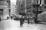 ISU-152 self-propelled gun at the intersection of Fecske Street and Déri Miksa Street, Budapest, Hungary, 30 Oct 1956, photo 1 of 7