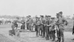 Canadian troops with Ross rifles, Camp Barriefield, Kingston, Ontario, Canada, 1915